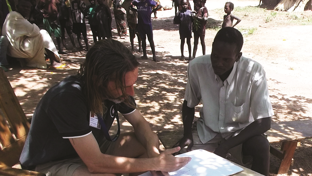 Richard Bretherick working to combat malaria in the Central African Republic