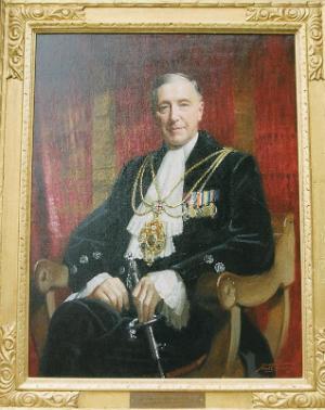 Sir Lacon Threlford. Portrait by Frank O. Salisbury (1947)