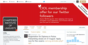 CIOL Twitter page