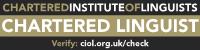 Chartered Linguist banner