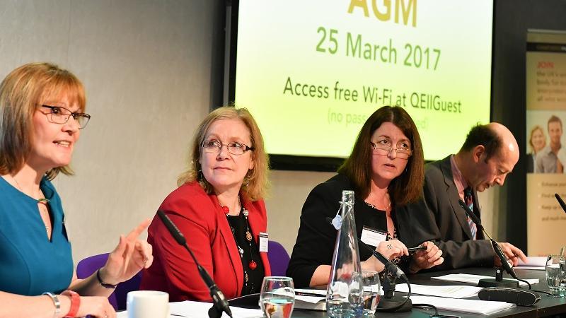 Jane Galbraith, Ann Carlisle, Karen Stokes and Adam Ladbury leading the AGM